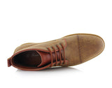 Ferro Aldo Mid Top Casual Shoe In Sand Color Donovan Overlook View