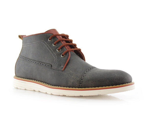 Men's Casual Boot Sneakers | Donovan | Ferro Aldo Mid Top Casual Shoe | CONAL FOOTWEAR