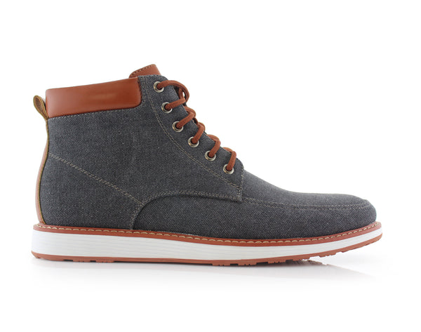 Black Sneaker Boots For Men's Melvin Side View