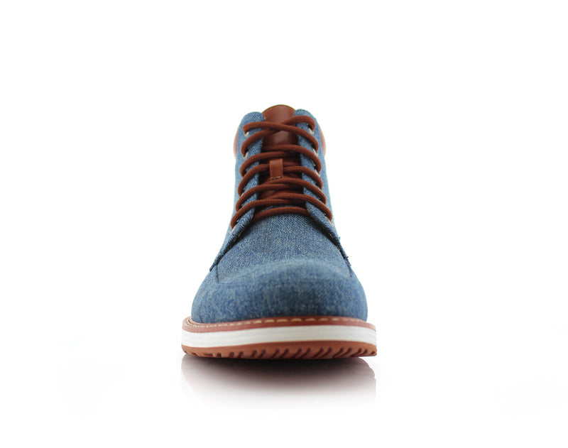 Blue Sneaker Boots For Men's Melvin Front View