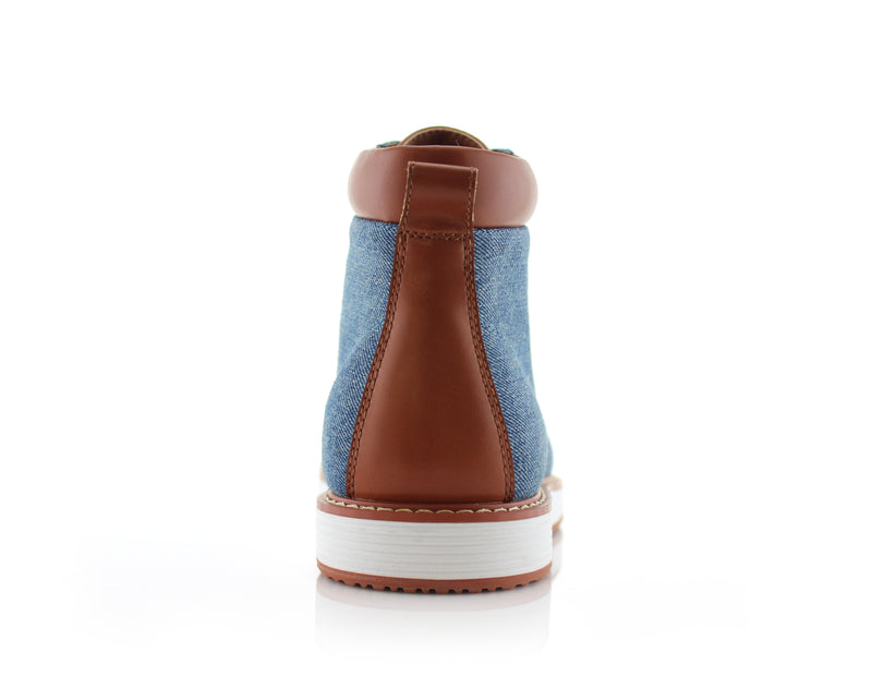 Blue Sneaker Boots For Men's Melvin Back View