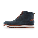 Blue Men's Memory Foam Sneaker Birt Side View
