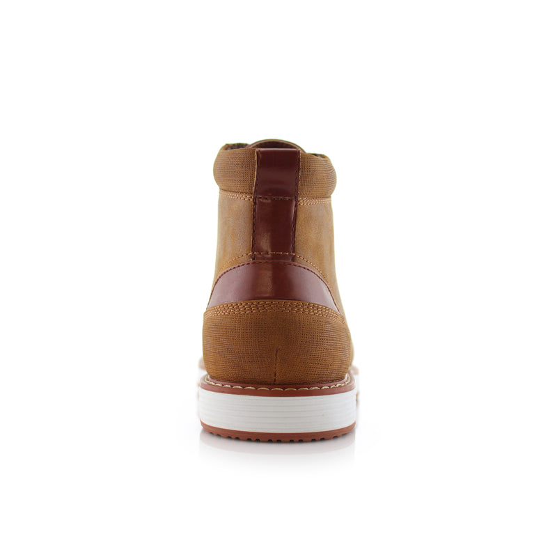 Sand Brown Men's Memory Foam Sneaker Birt Back View