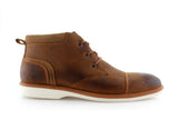Burnished Stylish Men's Sneaker Comfortable Casual Brown Shoes Sammy Side View
