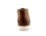 Burnished Stylish Men's Sneaker Comfortable Casual Brown Shoes Sammy Back View