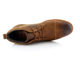 Burnished Stylish Men's Sneaker Comfortable Casual Brown Shoes Sammy Top View