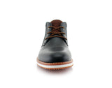 Memory Foam Mid-Top Black Sneaker Boots Houstan Front View