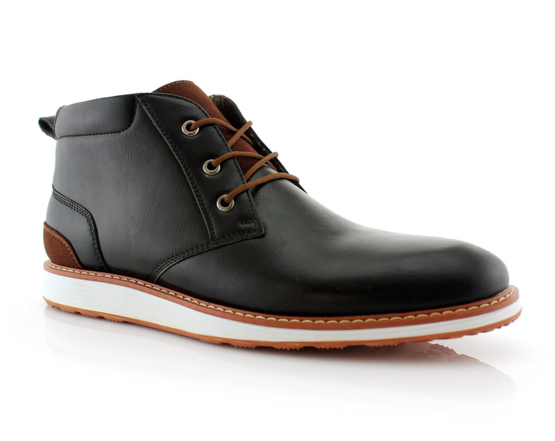 Memory Foam Mid-Top Sneaker Boots | Houstan | Sleek Mid Shoes | CONAL FOOTWEAR