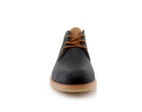 Lace Up Fashion Casual Black Chukka Marvin Front View