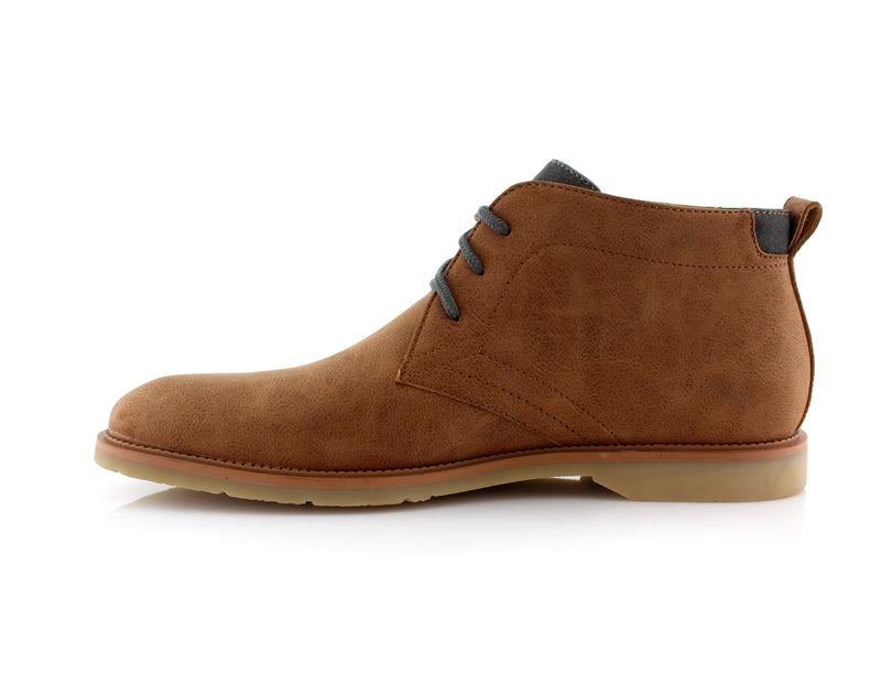 Lace Up Fashion Casual Khaki Chukka Marvin Side View