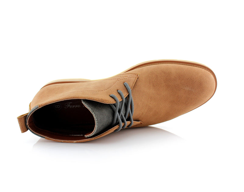 Lace Up Fashion Casual Khaki Chukka Marvin Top View