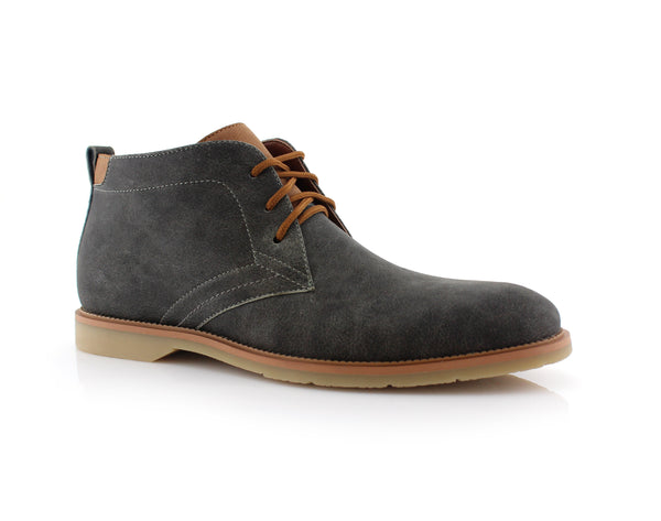 Lace Up Fashion Casual Gray Chukka Marvin Side View