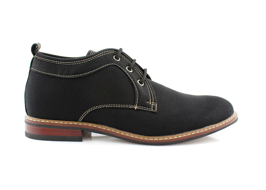 Black Chukka Boots Mens Simple Design Suede Noah Side View