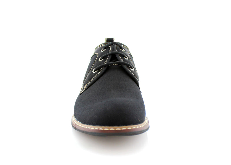 Black Chukka Boots Mens Simple Design Suede Noah Front View