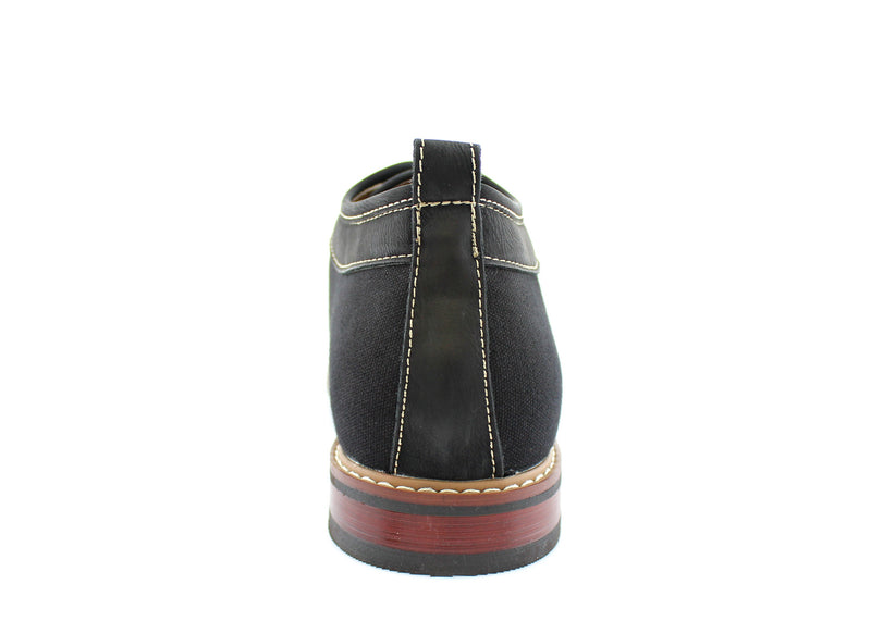 Black Chukka Boots Mens Simple Design Suede Noah Back View