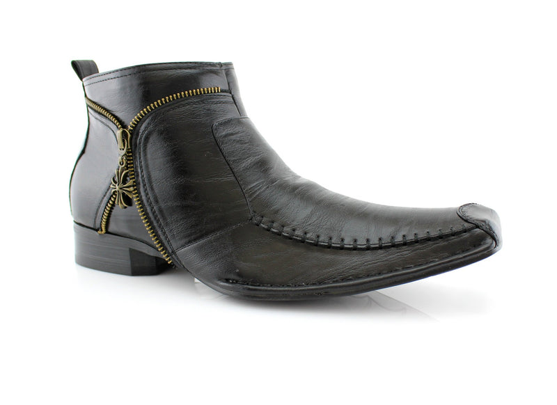 Men's Cowboy Square Toe Boots Side View
