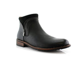 Side Zipper Combat Boots Mid Top Men's Footwear