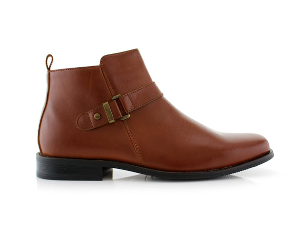 Brown buckle Anckle Boots for men Conal Footwear Antonio side