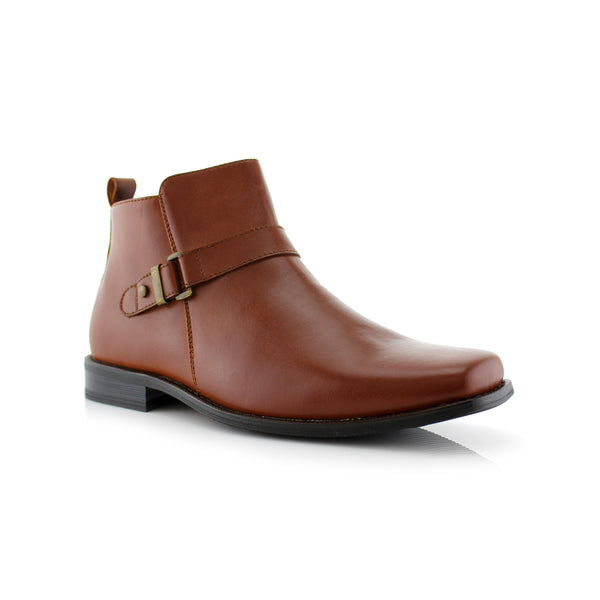 Brown buckle Anckle Boots for men Conal Footwear Antonio primary image
