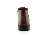 Square Toe Brown Ankle boots back