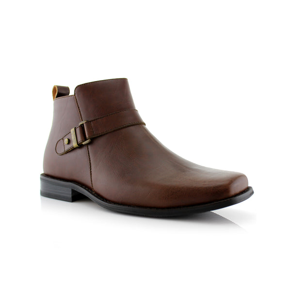 Square Toe Brown Ankle boots primary image by Ferro Aldo