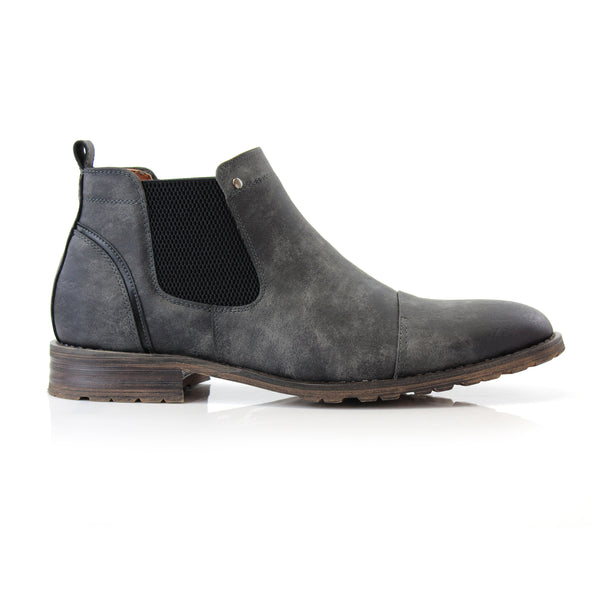 Street Style Men's Chelsea Captoe Brown Boot Sterling Side View