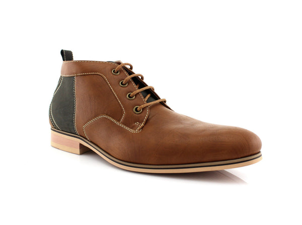 Nubuck Brown Black Splice Boot's For Work Side View
