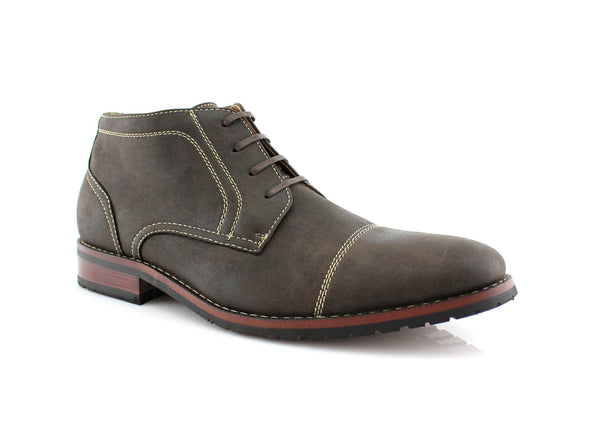 Buy Daily Footwear Vegan Leather Chukka Gray Boot Logan Side View