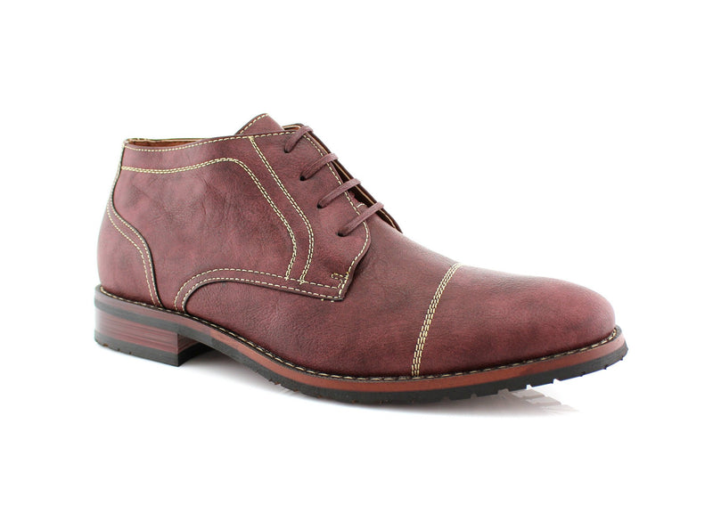 Buy Daily Footwear Vegan Leather Chukka Burgundy Boot Logan Side View