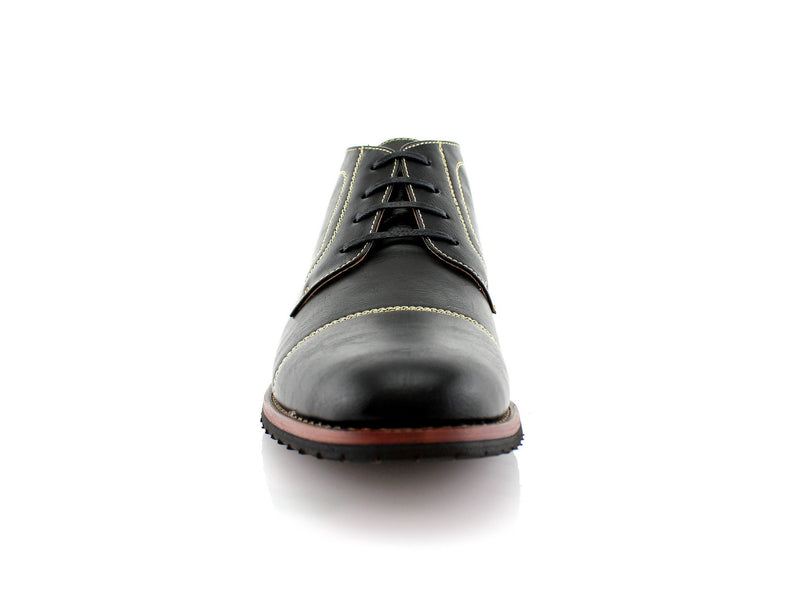 Buy Daily Footwear Vegan Leather Chukka Black Boot Logan Front View