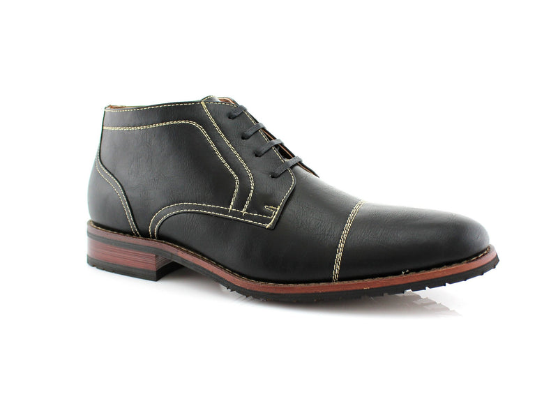 Buy Daily Footwear Vegan Leather Chukka Black Boot Logan Side View