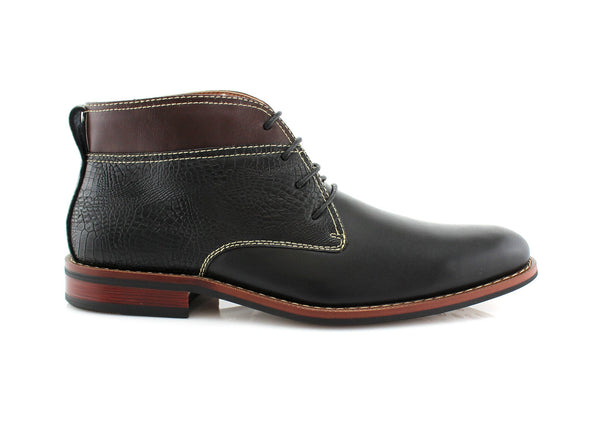 Black Striker Chukka Boots Classic Western Men's Shoes Mark Side View
