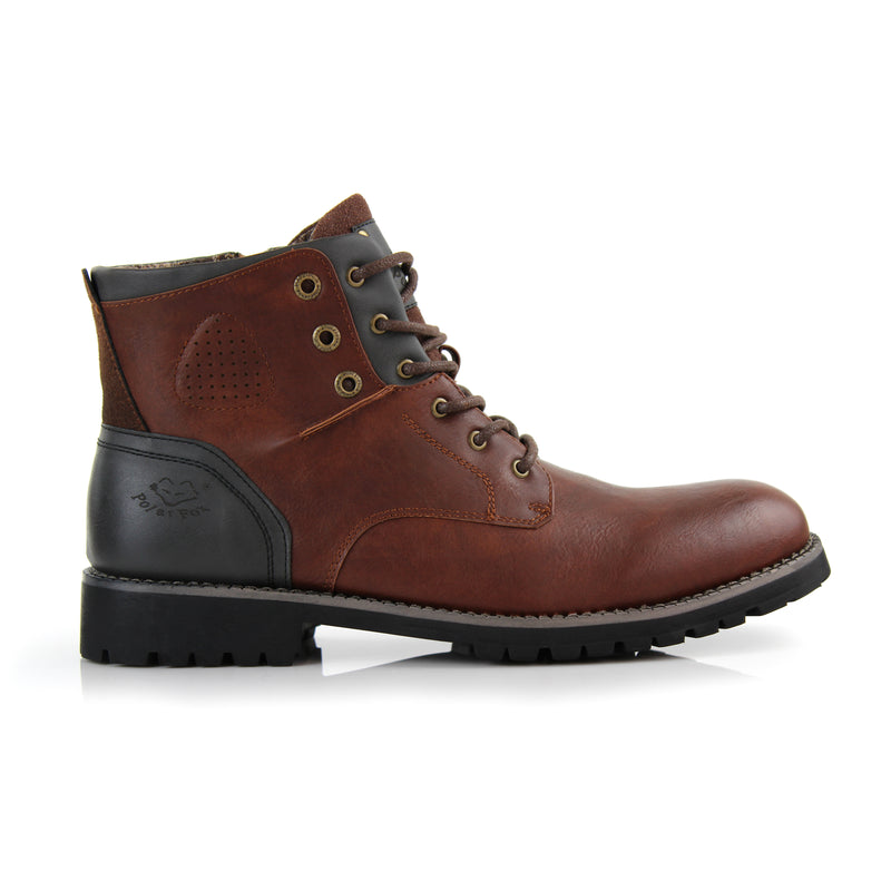 Homer-Brown Rugged men's boots side