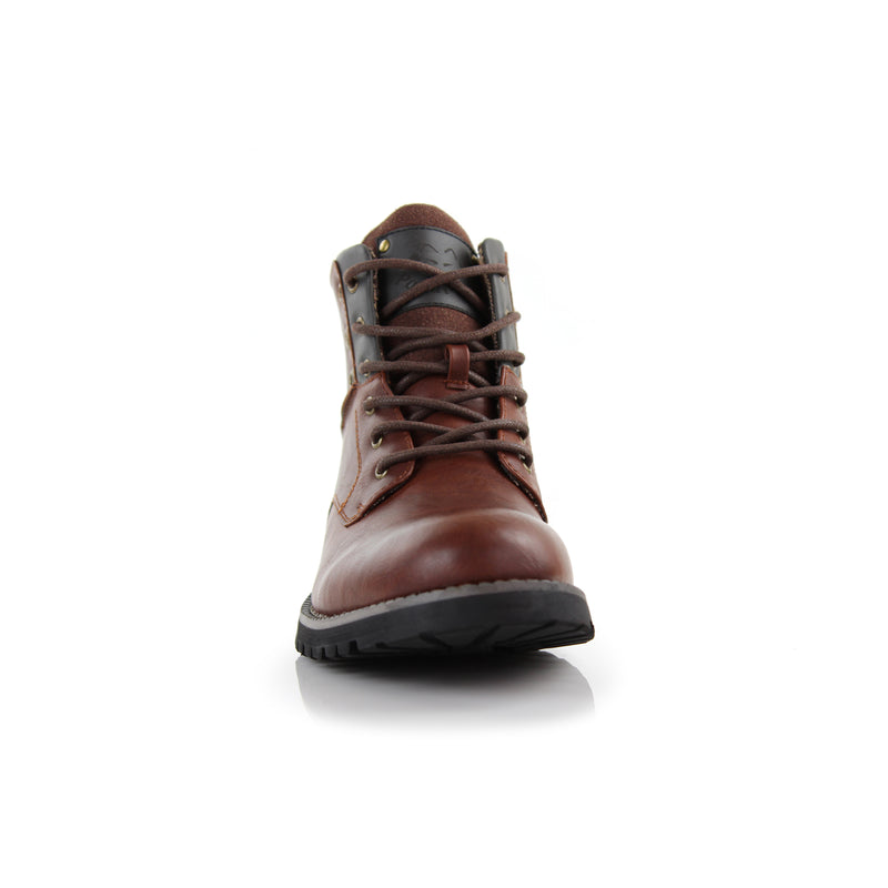 Homer-Brown Rugged men's boots front
