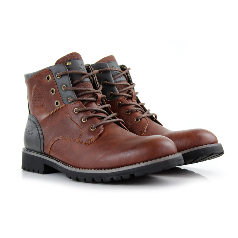 Homer-Brown Rugged men's boots