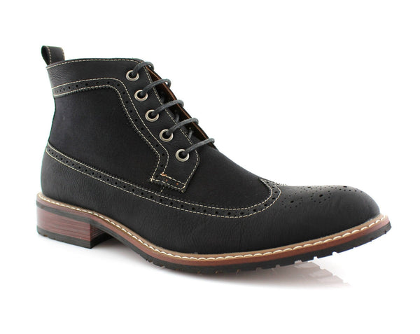 Men's Casual Streetwear | Myles | Mid-Top Casual Wing Tip Brogue Boots | CONAL FOOTWEAR