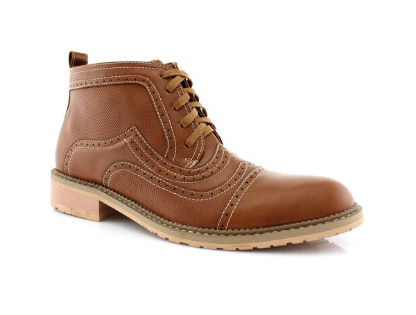 Brwon Retro Ankle Boots For Men Ethan Side View