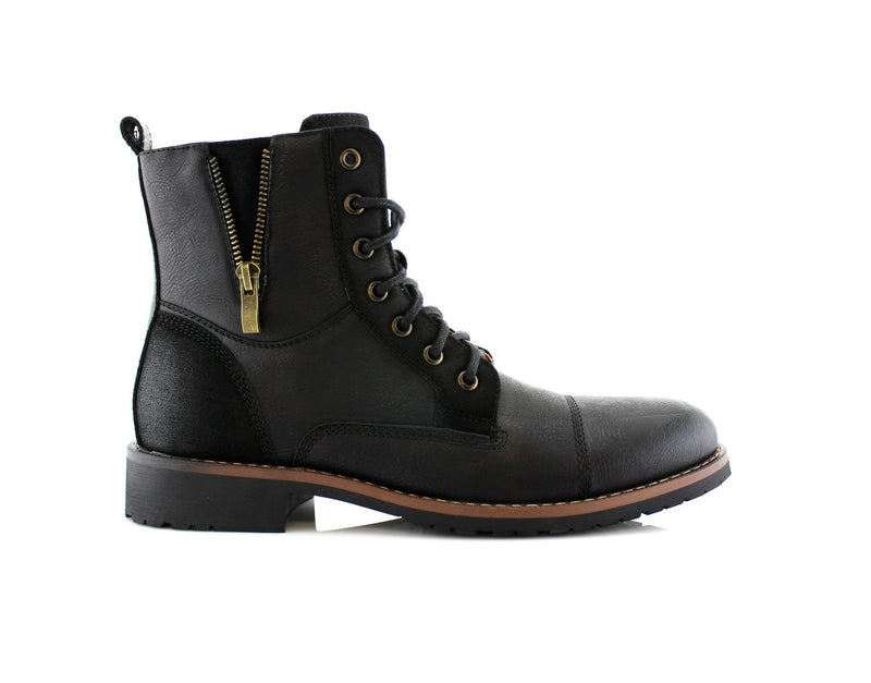 Black Men's Fashionable Boots For Pants Reid Side View