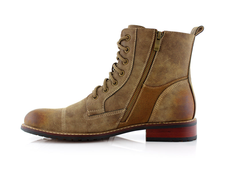 Desert Men's Combat Fashion Boots Andy Side with Zipper