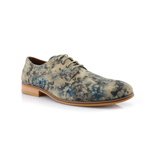 Wedding Photography Men's Outfit  Floral Print Fashion Shoes