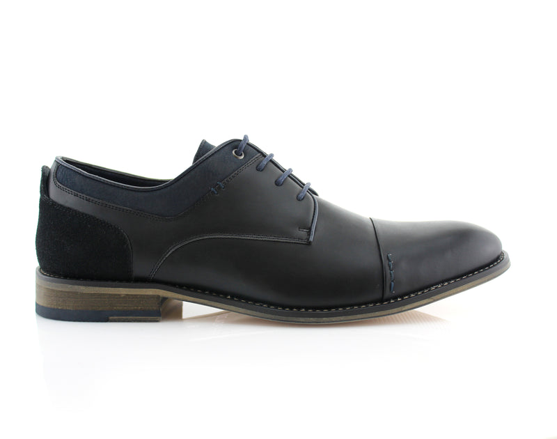Suede Oxford Lace-Up Leather Shoes -ALEXANDER -Polar Fox - CONAL FOOTWEAR Since 1983