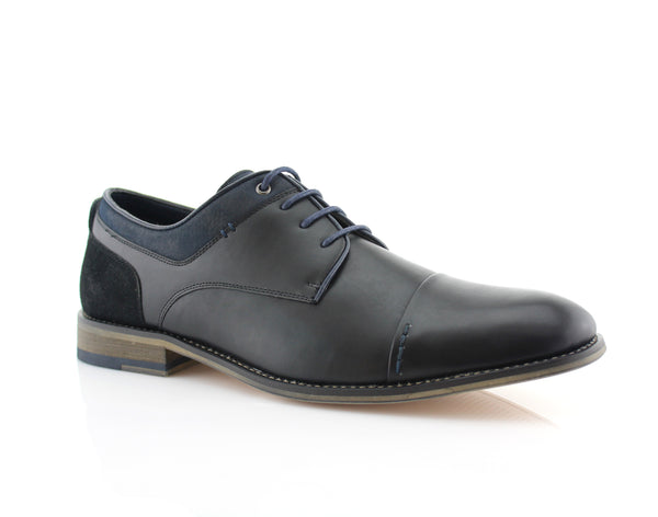 Black Suede Spring Season Oxford Lace-Up Shoes Alexander Side