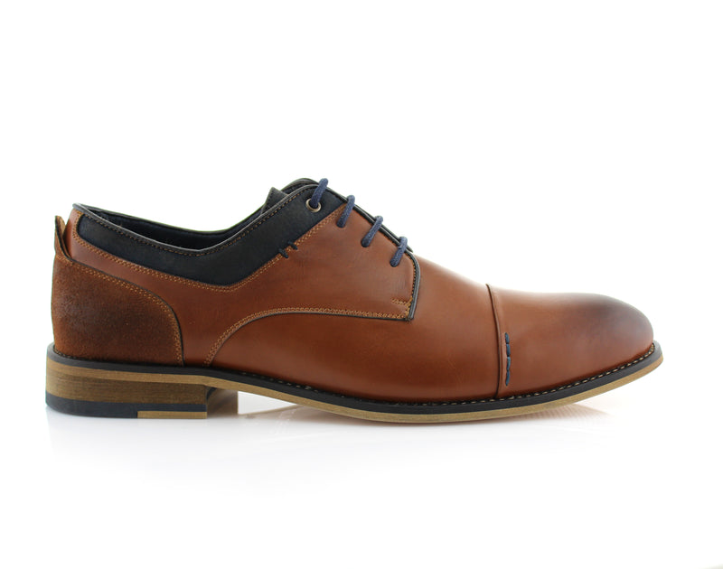 Brown Suede Spring Season Oxford Lace-Up Shoes Alexander Side