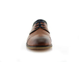 Brown Suede Spring Season Oxford Lace-Up Shoes Alexander Front