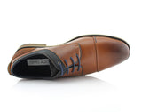 Brown Suede Spring Season Oxford Lace-Up Shoes Alexander Top View