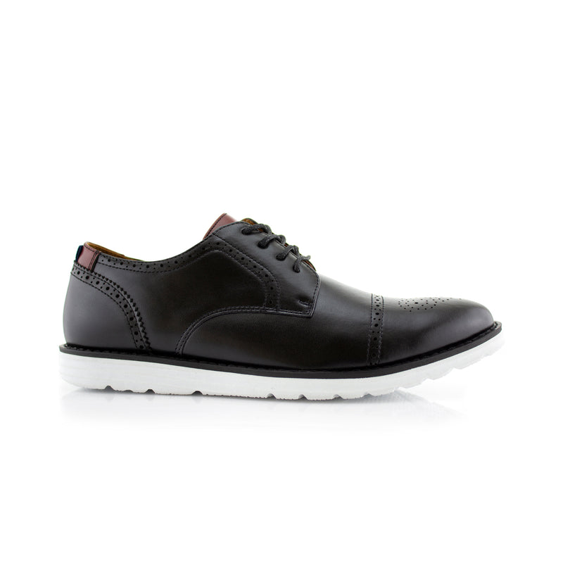 Travel-Friendly Derby Black Sneaker with Memory Foam Side