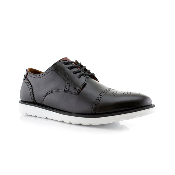 Travel-Friendly Derby Black Sneaker with Memory Foam Main View