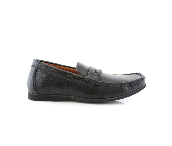 Black Penny Loafer Slip On Shoes Polar Fox Caden Side View