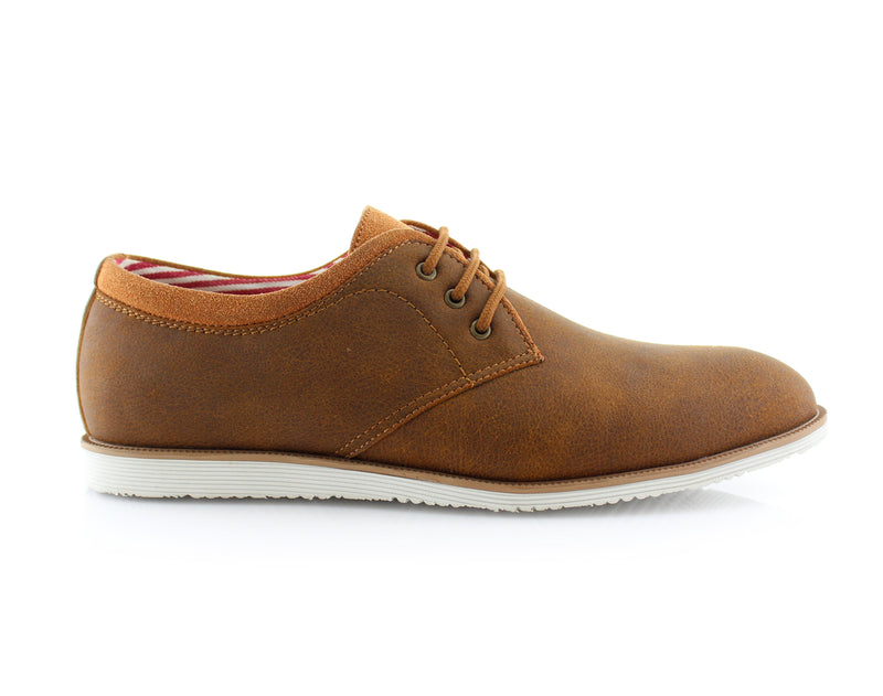 Brown Oxford Sneaker Work Shoes Polar Fox Men's Sneakers Angel Side View