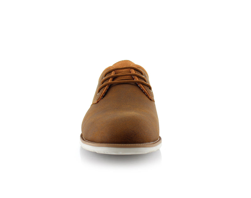 Brown Oxford Sneaker Work Shoes Polar Fox Men's Sneakers Angel Front View